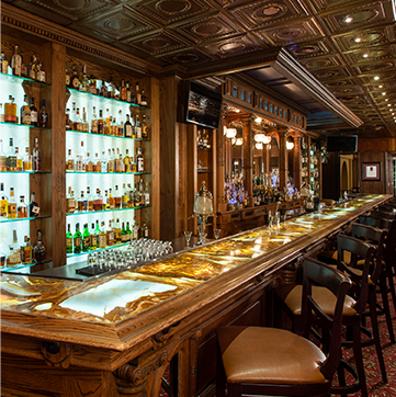 Whiskey Bar. CASCADES RESTAURANT